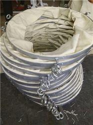 防尘帆布颗粒输送伸缩软连接定做价