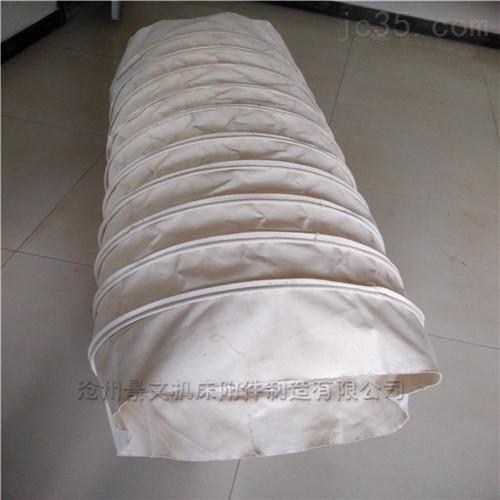 白色耐磨帆布粉尘输送伸缩布袋厂家批发价