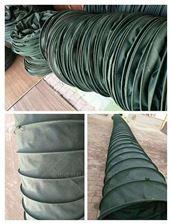 自定环保耐酸碱防腐蚀帆布通风伸缩管