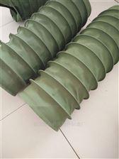 自定邢台绿色帆布防腐蚀通风伸缩软管
