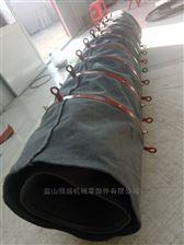 内外扁钢加固型伸缩帆布布袋报价