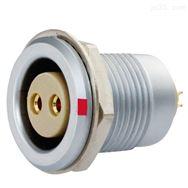 沿溪连接器2芯母插座推拉自锁接插件