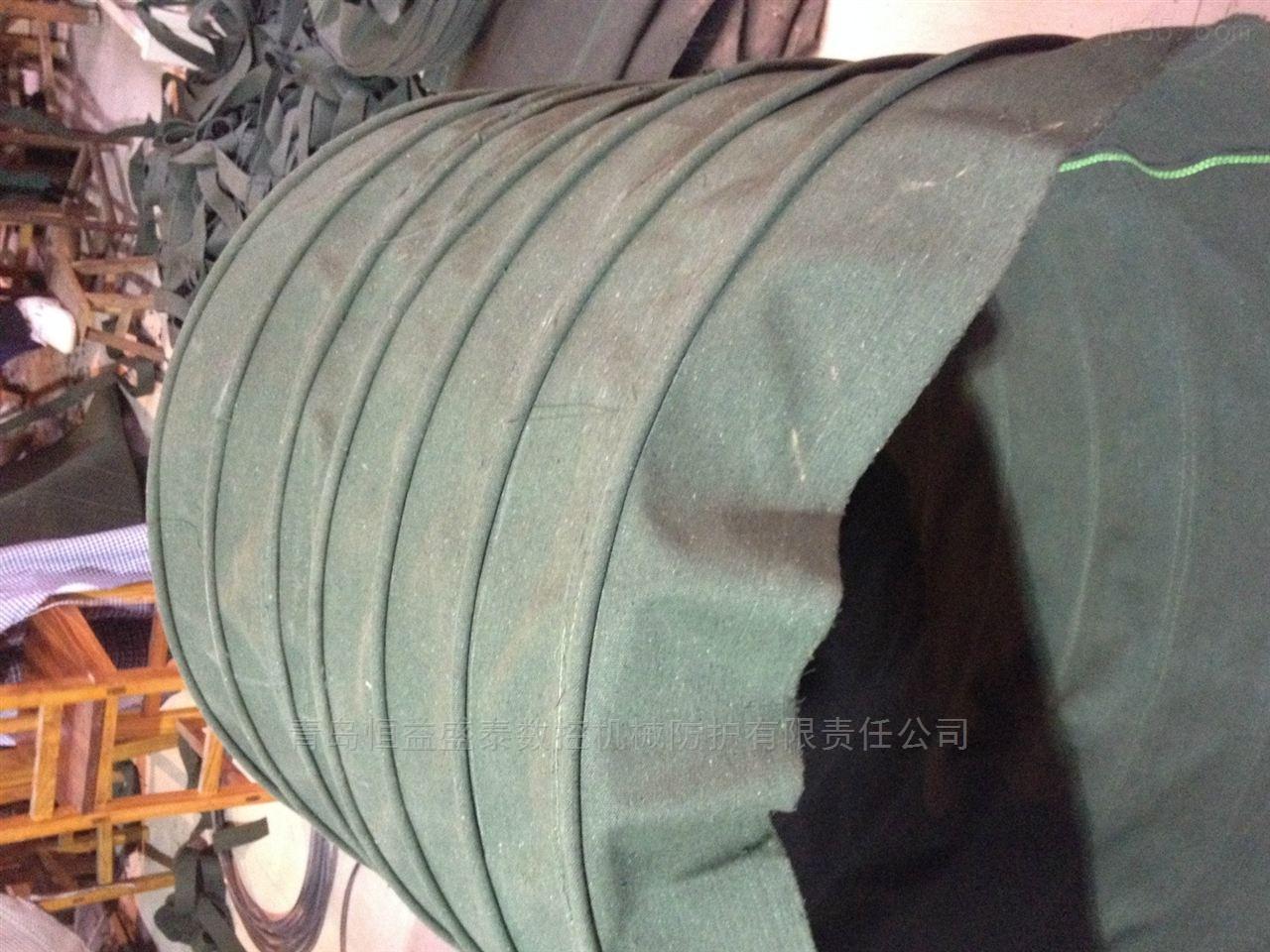 电厂散装机下料口吊环式帆布伸缩布袋加工厂