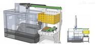 自动化系统置于数控车床侧面