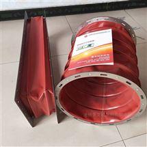 圆形红色硅胶布高温软连接定做
