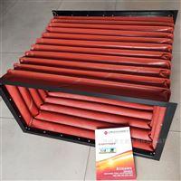 红色硅胶布高温风道口价格
