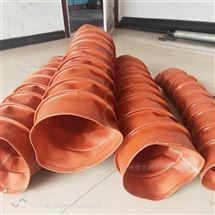 300口径硅胶布高温伸缩风管供应价