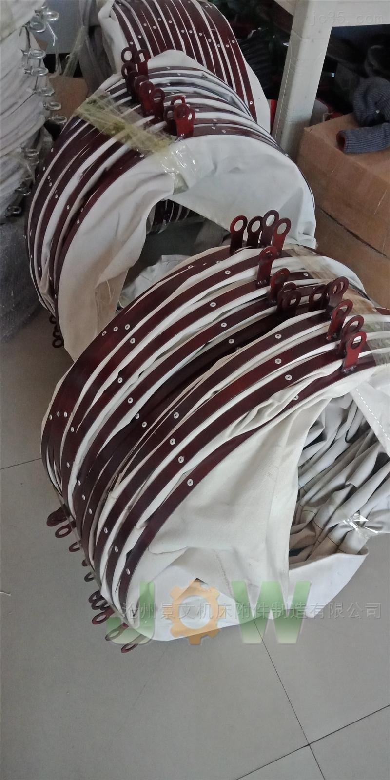 泊头耐磨帆布输送伸缩布袋厂家定做价