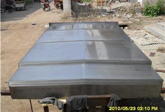 厂家供应钢板伸缩导轨机床防护罩